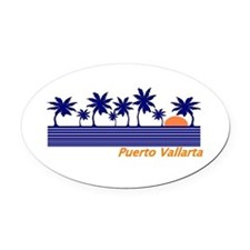 Cute Dive cozumel Oval Car Magnet