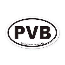 Ponte Vedra Beach PVB Euro Oval Car Magnet