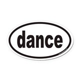 Dance Oval Car Magnets
