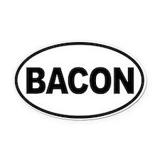 Bacon. Enough Said Oval Car Magnet