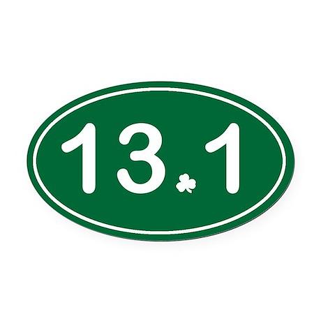 Half Marathon *irish* Oval Car Magnet