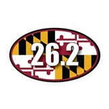 Maryland oval Oval Car Magnets