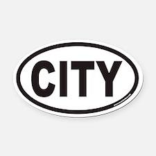 CITY Euro Oval Car Magnet