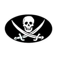 Calico Jack's Flag Oval Car Magnet
