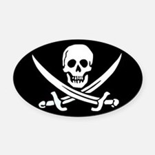 Calico Jack's Flag Oval Car Magnet
