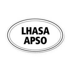 Lhasa Apso Oval Car Magnet