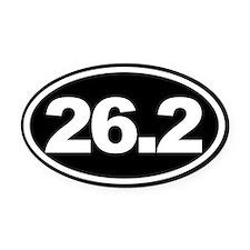 26.2 Full Marathon Oval Euro Oval Car Magnet Black