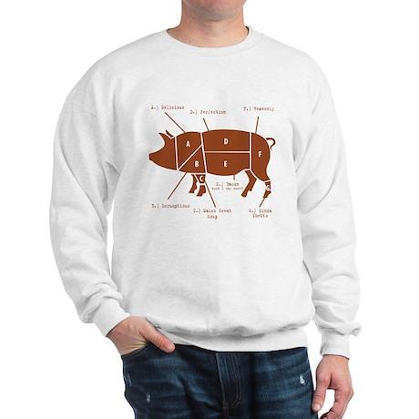 Delicious Pig Parts! Sweatshirt