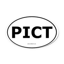 PICT Oval Car Magnet