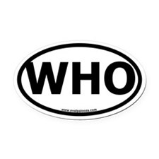 WHO Oval Car Magnet