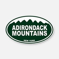 Adirondack Mountains Oval Car Magnet