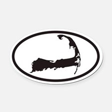 Cape Cod Euro Oval Car Magnet with Map