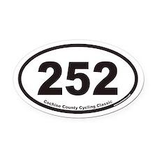 252 Euro Oval Car Magnet