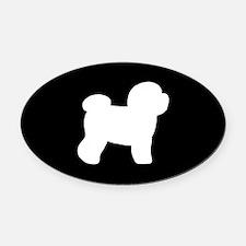 Bichon Frise Oval Car Magnet