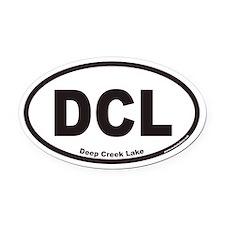 Deep Creek Lake DCL Euro Oval Car Magnet