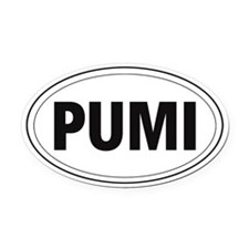 Pumi Oval Car Magnet