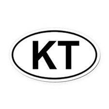 Knobstone Trail (KT) Euro-style Oval Car Magnet