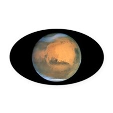 Cute Mars Oval Car Magnet