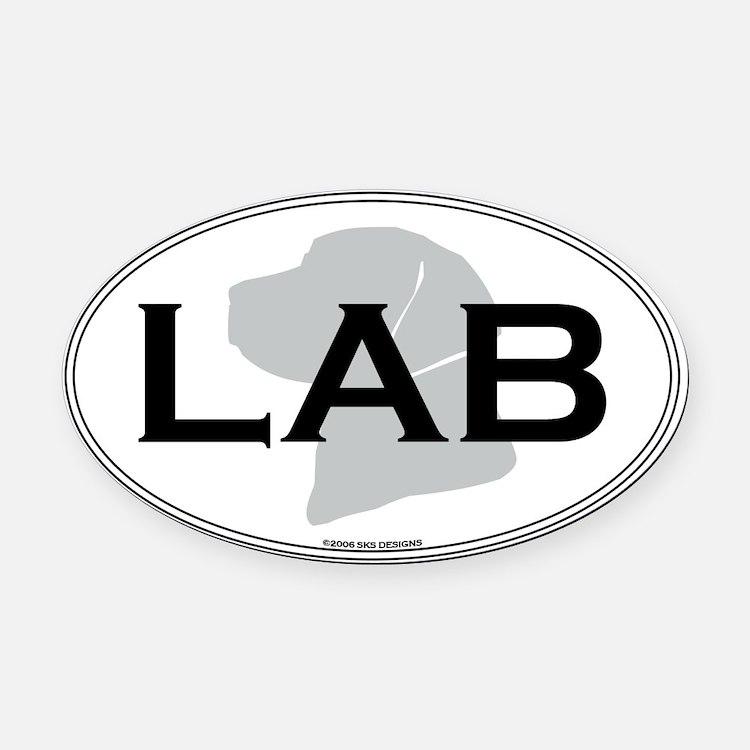 LAB Oval Car Magnet