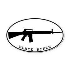 Cute Rifle Oval Car Magnet