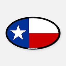 Texas Flag Oval Car Magnet