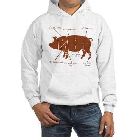 Delicious Pig Parts! Hooded Sweatshirt