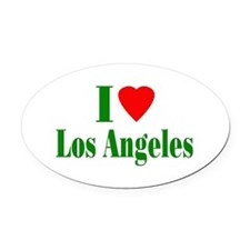I Love Los Angeles Oval Car Magnet