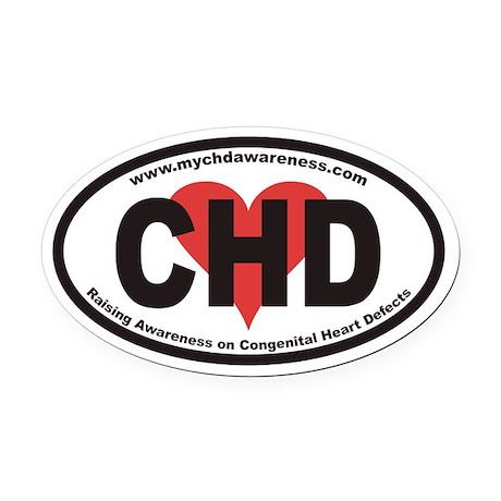 CHD www.mychdawareness.com Euro Oval Car Magnet