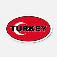 Turkey (Turkish Flag) Oval Car Magnet
