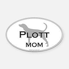 Plott MOM Oval Car Magnet