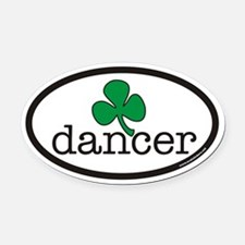 Irish Dancer Euro Oval Car Magnet
