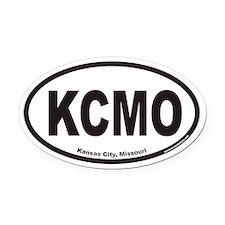 Kansas City Missouri KCMO Euro Oval Car Magnet