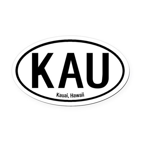 Kauai, Hawaii Oval Car Magnet