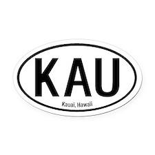 Kauai, Hawaii Oval Car Magnet