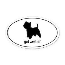 Got Westie? Oval Car Magnet