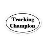 Tracking dogs Oval Car Magnets