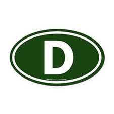"""D"" Euros Oval Car Magnet"