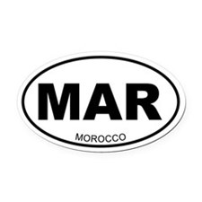 Morocco Oval Car Magnet
