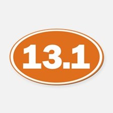 13.1 burnt orange Oval Car Magnet