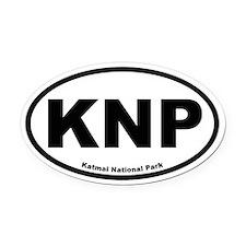 Katmai National Park Oval Car Magnet