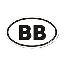BB Euro Oval Car Magnet