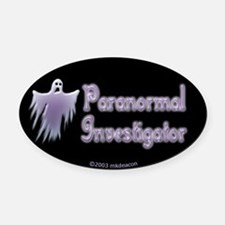 Spooky Ghost PI Oval Car Magnet