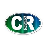 Costa rica sticker Oval Car Magnets