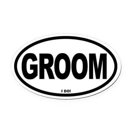 Grooms Oval Car Magnet