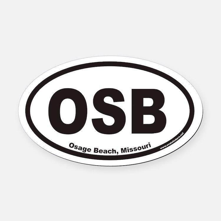 Osage Beach OSB Euro Oval Car Magnet