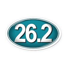 26.2 TEAL Marathon Oval Car Magnet