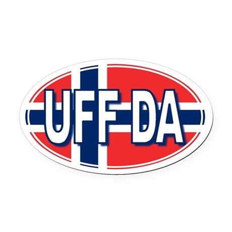 UFF DA - Oval Car Magnet