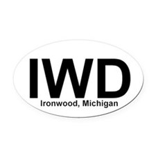 IWD - Oval Car Magnet