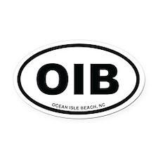 OIB Ocean Isle Beach, NC Euro White Oval Car Magne