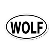 WOLF Oval decal Oval Car Magnet